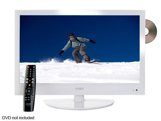 "COBY LEDVD2396WHT 23"" White LED-Backlit HDTV with DVD Player"