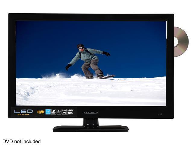 """Affinity LE2459D 24"""" Class (23.6"""" Diag.) Black LED HDTV, DVD Combo"""