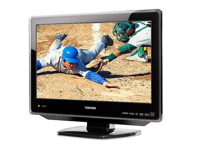 """TOSHIBA 19LV610U 19"""" Black 720p LCD HDTV With Built-In DVD Player"""