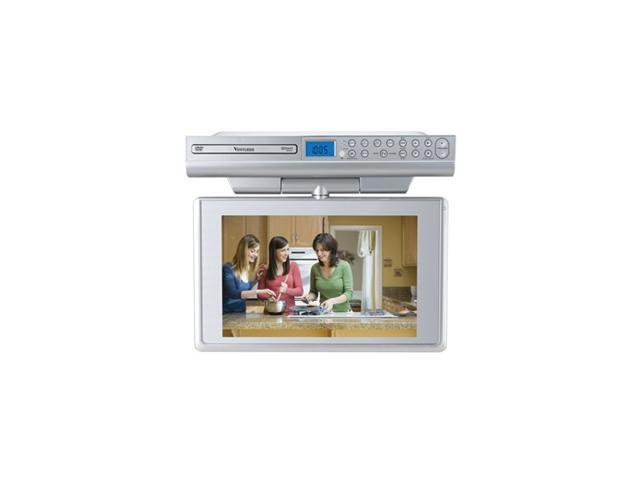 """Venturer KLV39120 12"""" Silver Under-Cabinet LCD TV With Built-In DVD Player"""