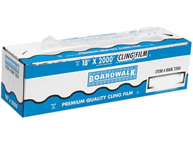 "Boardwalk 7204 PVC Food Wrap Film, 18"" x 2000-ft. Roll"