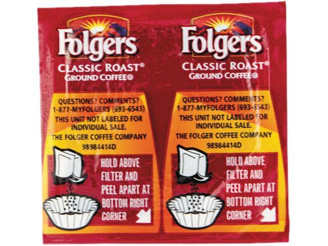 Folgers 06930 Coffee, Classic Roast Regular, .9 oz. Pack, 42/Carton