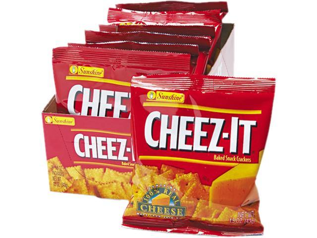 Kellogg's 12233 Cheez-It Crackers, 1.5oz Single-Serving Snack Pack, 8 Packs/Box