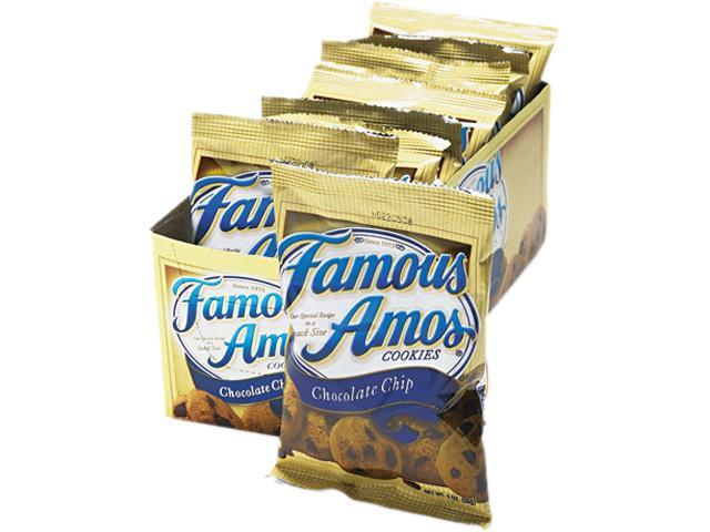 Kellogg's 98067 Famous Amos Cookies, Chocolate Chip, 2oz Snack Pack, 8 Packs/Box