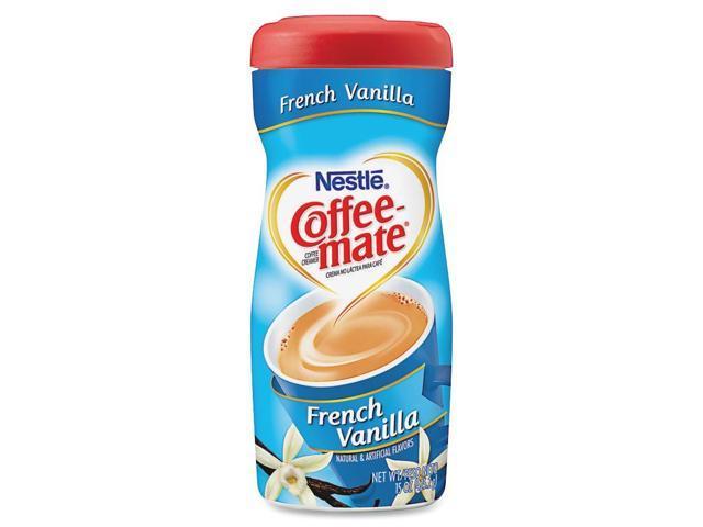 Coffee-mate 49390 French Vanilla Creamer Powder, 15-oz Plastic Bottle