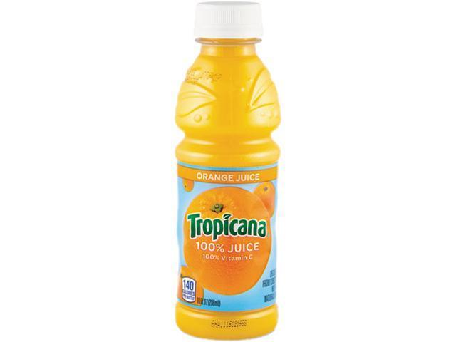 Tropicana 30107 100% Juice, Orange, 10 oz Plastic Bottle, 24/Carton