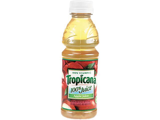 Tropicana 30110 100% Juice, Apple, 10 oz Plastic Bottle, 24/Carton