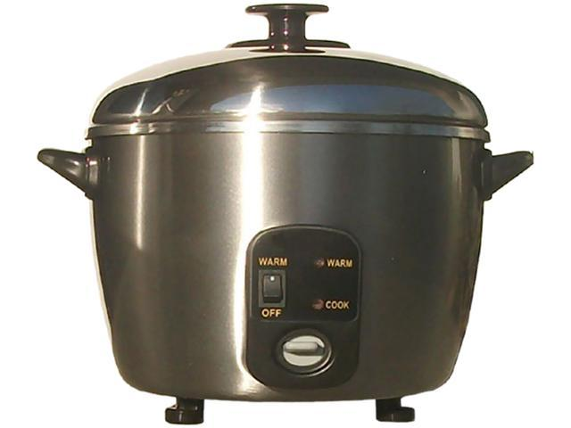 Sunpentown SC-887 Stainless Steel 6-cup Rice Cooker / Steamer