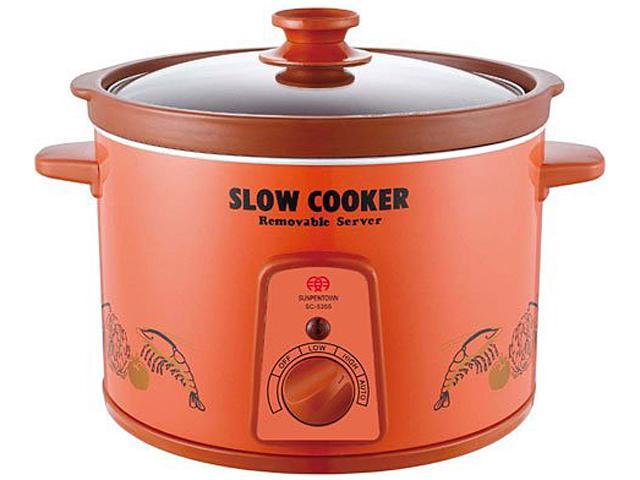 Sunpentown SC-5355 Red Zisha Slow Cooker