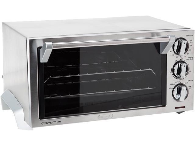 Delonghi eo1270 1400w 0 5 cu ft 6 slice convection toaster oven stainless steel for Toaster oven stainless steel interior