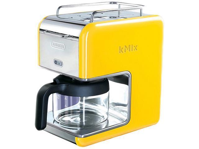 DeLonghi DCM02YELLOW Yellow 5 Cup kMix Drip Coffee Maker
