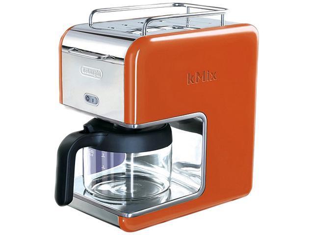 DeLonghi DCM02ORANGE Orange 5 Cup kMix Drip Coffee Maker