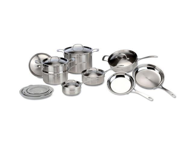 DeLonghi CS-14FL 14 Pc. Cookware Set Florence Pattern Silver