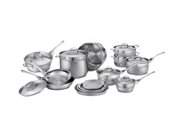 DeLonghi CS-17GE 17 Pc. Cookware Set Genoa Pattern Silver