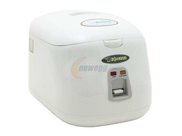 ZOJIRUSHI NS-PC18 Herb White Electric Rice Cooker & Warmer