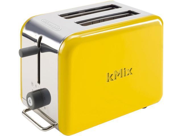 Delonghi Dtt02ye Yellow Kmix 2 Slice Toaster Newegg Com