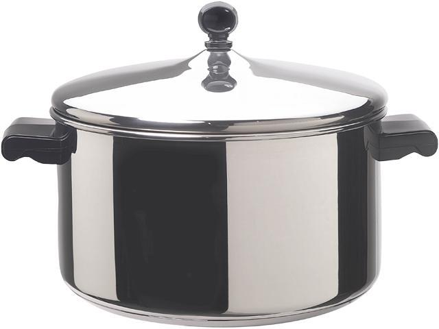 FARBERWARE 50005 Stainless Steel 6 Qt. 6 Quart Covered Stockpot