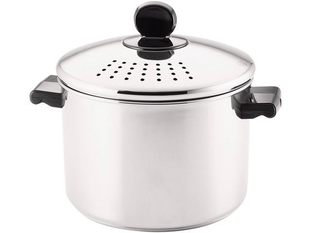 FARBERWARE 70755 Classic Stainless Steel 8-Quart Covered Straining Stockpot