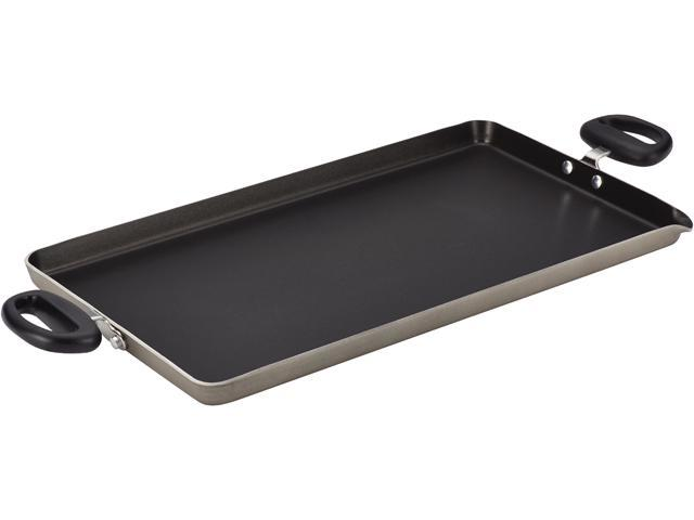 FARBERWARE  21667  Dishwasher Safe Nonstick Aluminum 18 Inch by 10 Inch Double Burner Griddle with Pour Spout