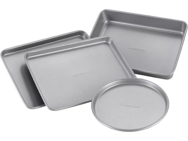 Farberware Nonstick Bakeware 57775 4-Piece Toaster Oven Set, Gray