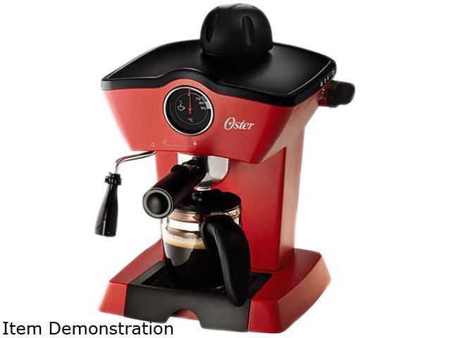 Oster BVSTEM4188-013 Steam Espresso Cappuccino Maker Red