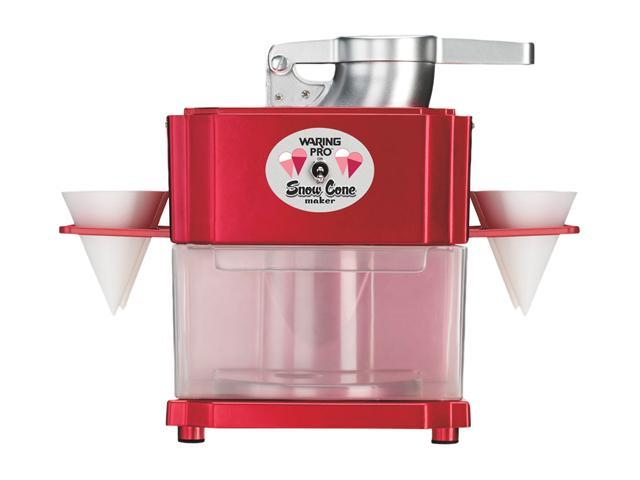 Waring Pro SCM100 Professional Snow Cone Maker, Metallic Red