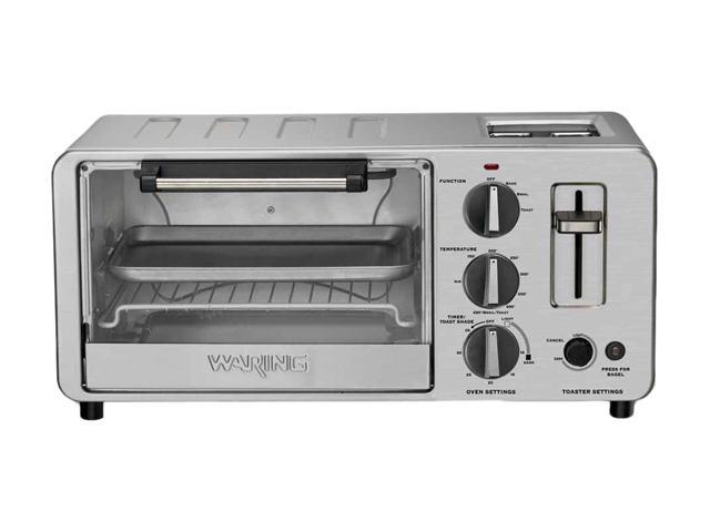 Pop Up Toaster With Oven ~ Waring pro wto watt toaster oven with built in pop
