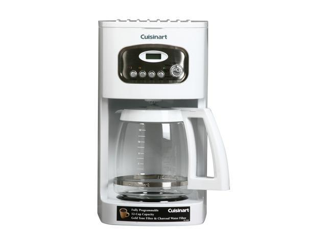 Cuisinart DCC-1100 White 12-Cup Programmable Coffeemaker