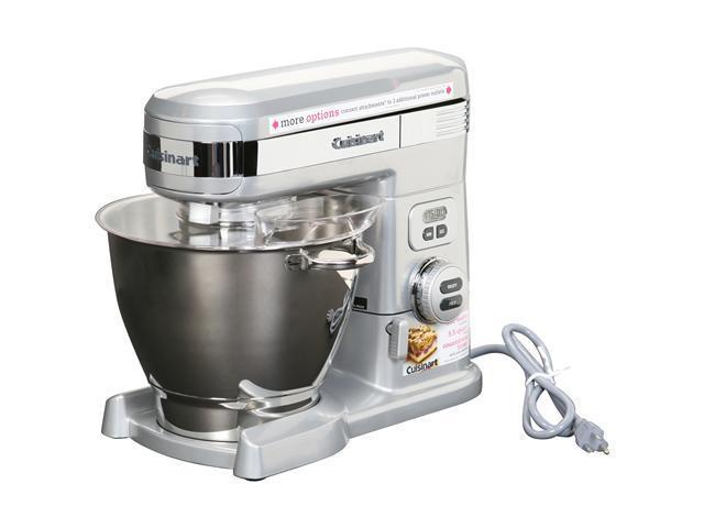 Cuisinart Sm 55bc 5 5 Quart Stand Mixer Silver Newegg Com