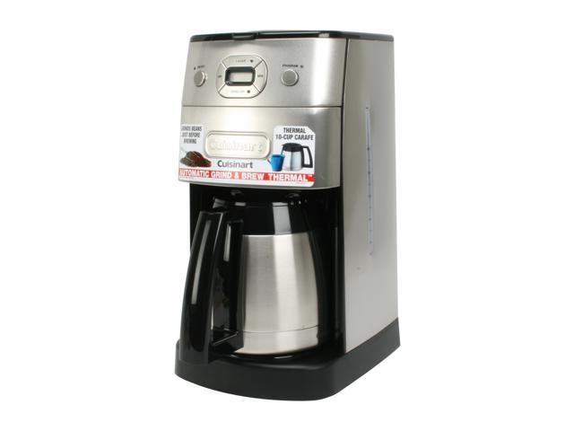 Cuisinart DGB-650BC Chrome Grind-and-Brew Thermal 10-Cup Automatic Coffeemaker