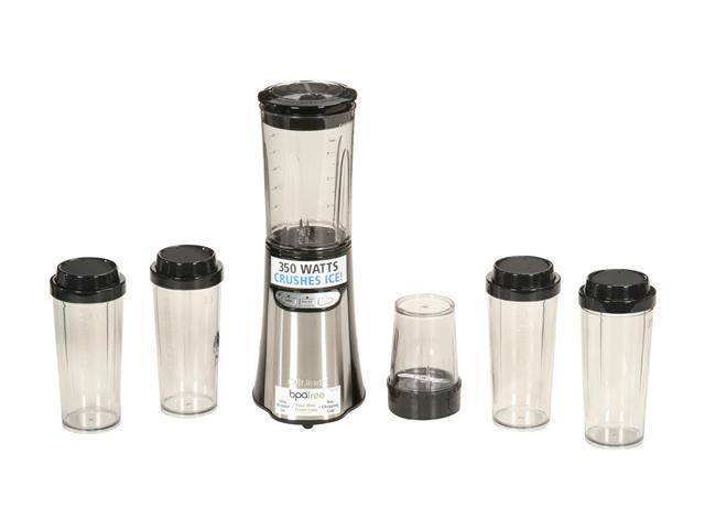 Cuisinart CPB-300 Stainless Steel BPA-free Tritan 32-oz. blender jar, 8-oz. chopping cup, and set of four 16-oz. travel cups Jar Size Compact Portable Blending/Chopping System High, Low and Pulse cont