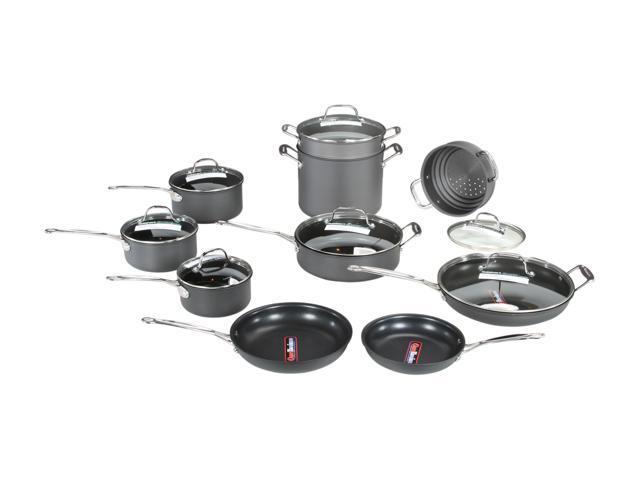 Cuisinart 66-17 Chef's Classic 17-Piece Cookware Set Nonstick Hard-Anodized