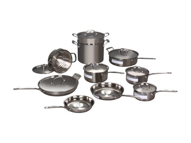 Cuisinart 77-17 Chef's Classic Stainless 17-Piece Cookware Set Silver