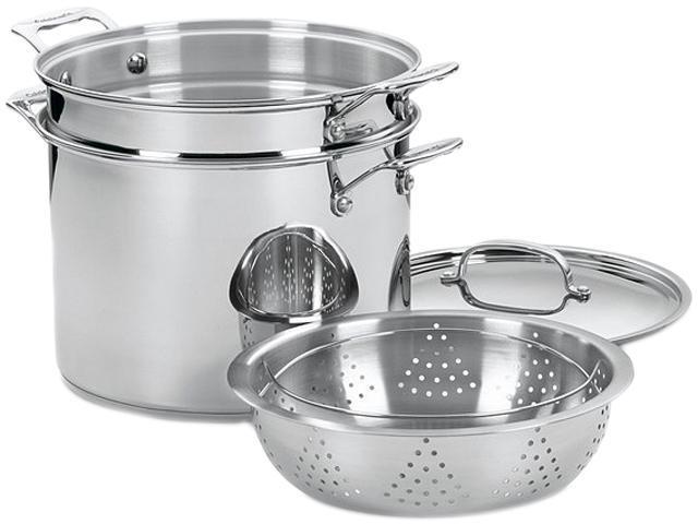 Cuisinart 77-412 12 Qt. Pasta/Steamer Set (4-Pc.) Stainless steel