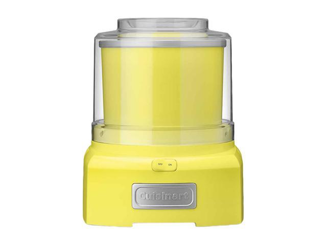 Cuisinart ICE-21YLSLT Automatic Frozen Yogurt Ice Cream Maker Yellow
