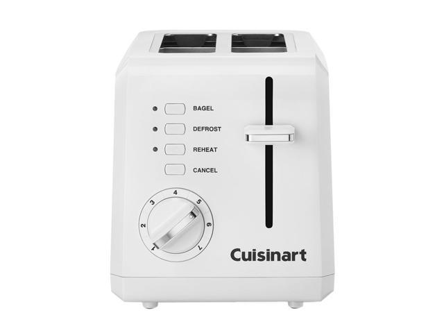Cuisinart CPT-122 White 2-Slice Compact Plastic Toaster