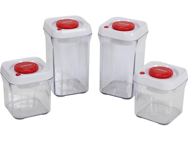 Cuisinart CFS-TC-S8R 8 Pc Set Red Container