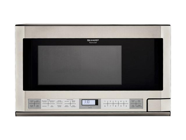 Sharp R-1214 1.5 cu. ft. 1100W Sensor Over-The-Counter Microwave