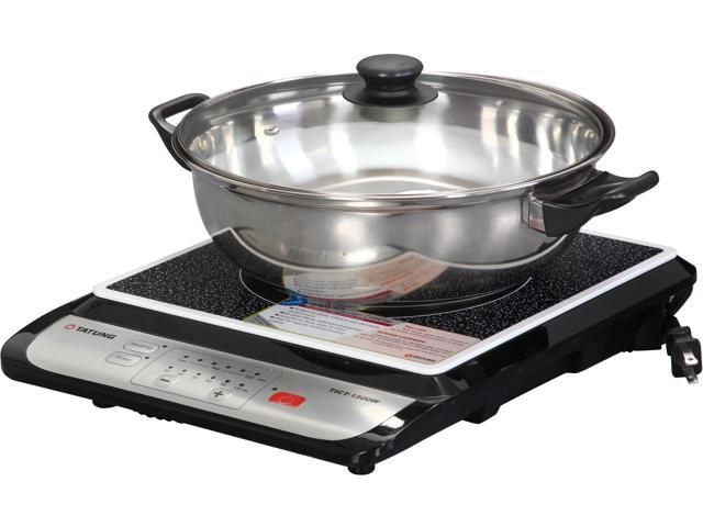 Cooking On Induction Cooktop Part - 36: TATUNG TICT-1500W Induction Cook Top With Stainless Steel Pot