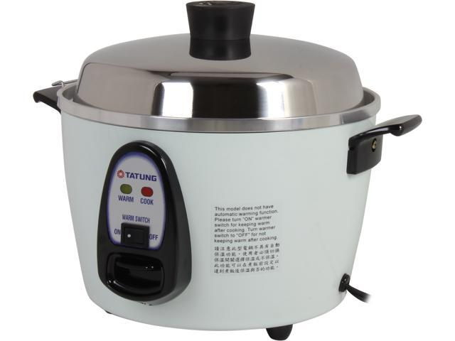 TATUNG TAC-6G(SF) White 6 Cups Cooked Rice Cooker / Steamer with Staintless Steel Inner Pot