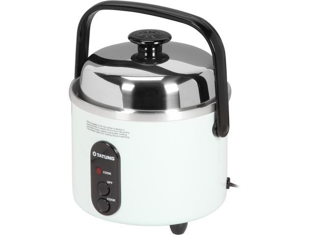 TATUNG Indirect Multi-Functional Mini Rice Cooker, Steamer and Warmer, White, 3-Cup uncooked/ 6-Cup cooked, TAC-3A(SF)