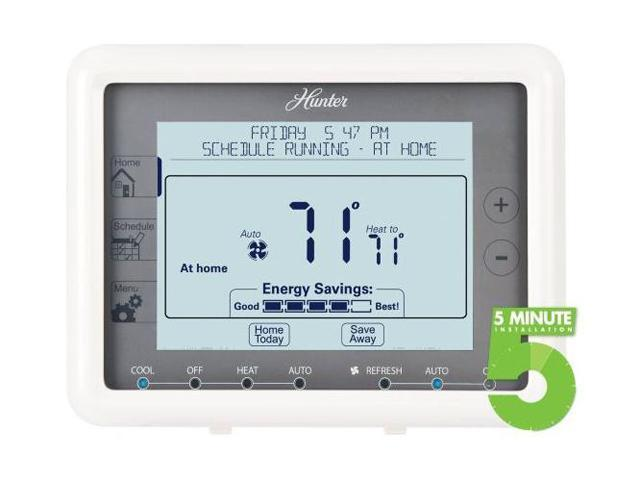 HUNTER 44905 Auto Save 7-Day Programmable Thermostat