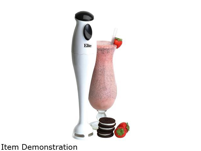 Maxi-Matic EHB-1000X White Elite Cuisine 200-Watt Hand Blender with One-Touch Button