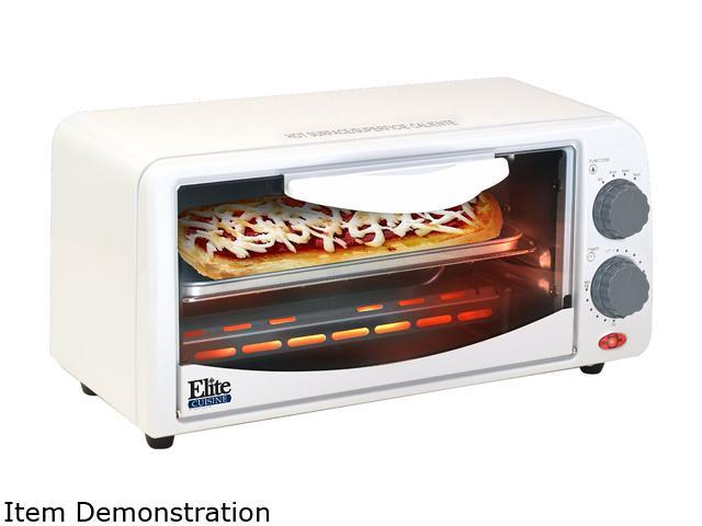Maxi-Matic ETO-113 White 2-Slice Toaster Oven with Timer