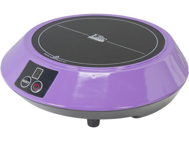 elite portable induction cooktop purple eind88p
