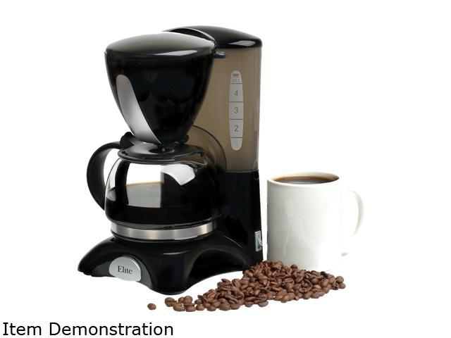 Maxi-Matic EHC-2022 Black 4 cup coffee maker w/pause & serve