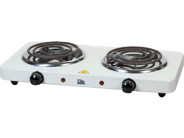 Maxi-Matic Elite Cuisine Electric Double Buffet Burner EDB-302 White