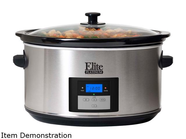 Elite MST-900D Stainless Steel 8.5 Qt. Platinum 8.5 Qt. Programmable Stainless Steel Slow Cooker