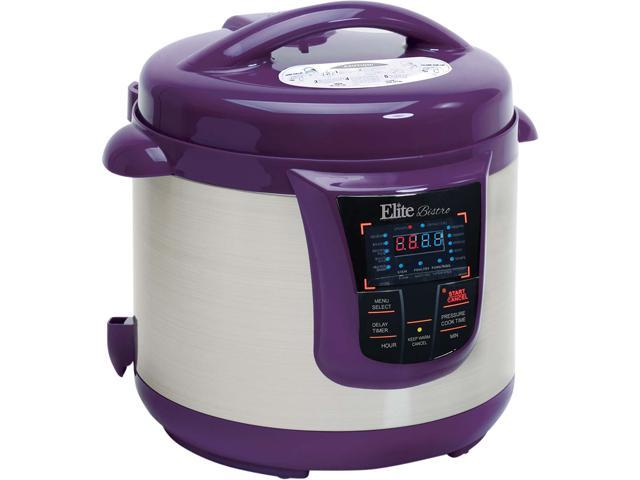 Elite EPC-808P Platinum - 8Qt. 13-Function Electric Pressure Cooker Plum