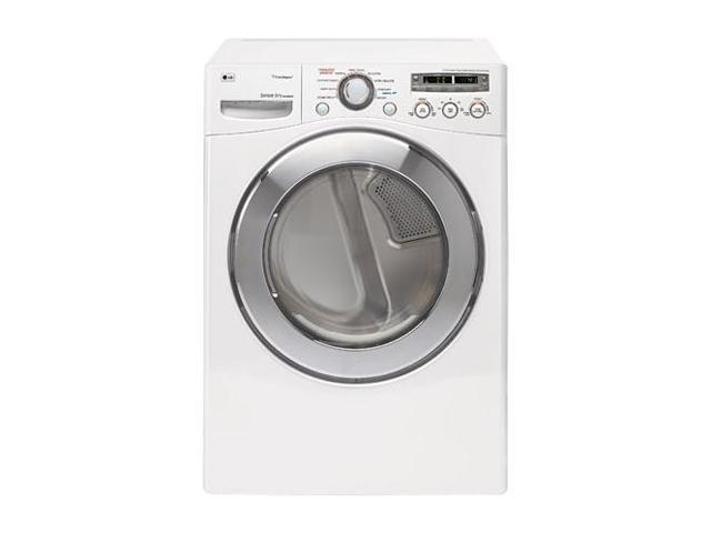 LG DLEX2501W White Electric Dryer